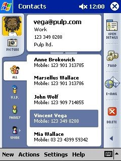 .mobile Contacts 1.0 screenshot