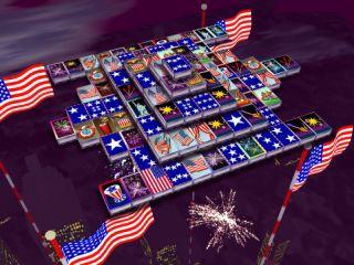 3D Magic Mahjongg - 4th of July 1.50 screenshot
