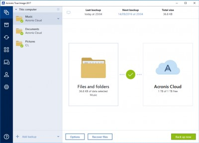 Acronis True Image 2018.9660 screenshot