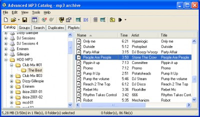 Advanced MP3 Catalog Pro 3.36 screenshot