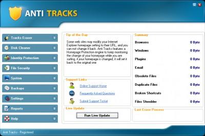 Anti Tracks 7.7.2 screenshot
