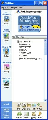 AOL Instant Messenger (AIM) 6.5.7.20 screenshot