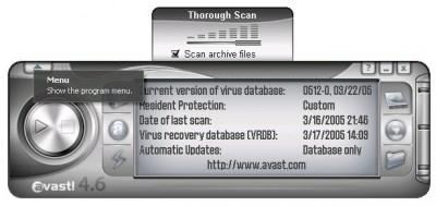 Avast! Professional 4.7.1098 screenshot