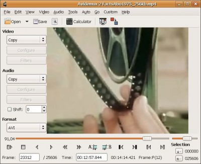 Avidemux 2.4 screenshot