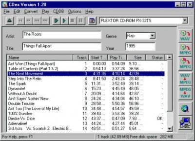 CDex 1.70 beta 2 screenshot