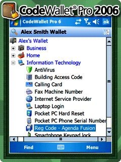 CodeWallet Pro 2006 6.62 screenshot