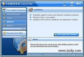 Comodo AntiVirus 2.0.17.58 beta screenshot