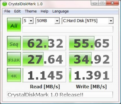 CrystalDiskMark 1.06 screenshot