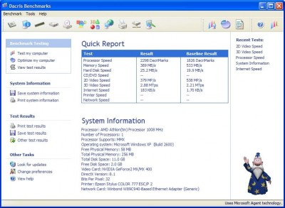 Dacris Benchmarks 5.0 Lite screenshot