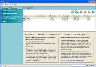 Diskeeper Professional 2008 12.758 screenshot
