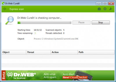 Dr.Web CureIt! 11.00.0.20 screenshot