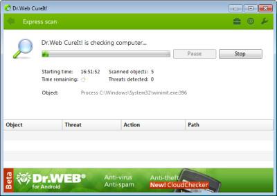 Dr.Web CureIt! 12.5.20200 screenshot