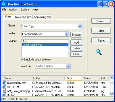 Effective File Search 6.8.1 screenshot