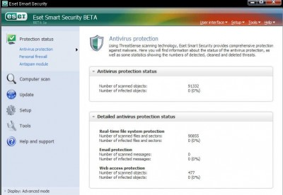 Eset NOD32 (32-bit) 3.0.621 screenshot