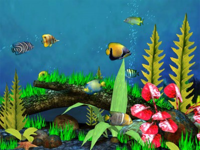 Fish Aquarium 3D Screensaver 1.4 screenshot