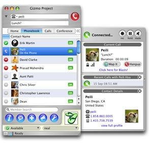 Gizmo Project for Windows 4.0.0.325 screenshot