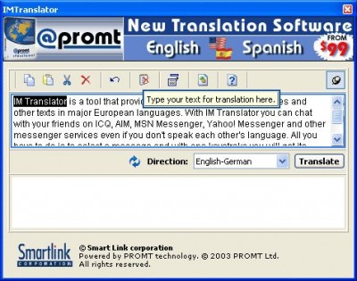IM Translator 3.0 screenshot
