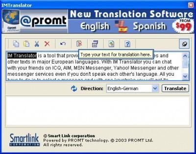 IM Translator 3.0 screenshot