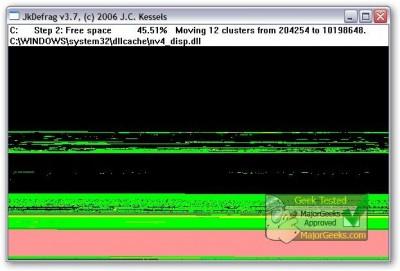 JkDefrag 3.33 screenshot