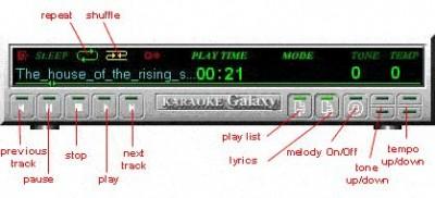 Karaoke GALAXY player 4.1 beta screenshot