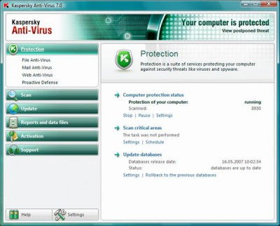 Kaspersky Anti-Virus 2016 screenshot