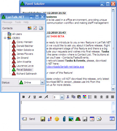 LanTalk NET 3.7.5612 screenshot