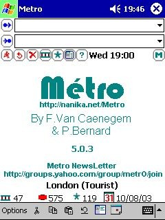 MetrO for Windows Mobile 5.6.3 screenshot