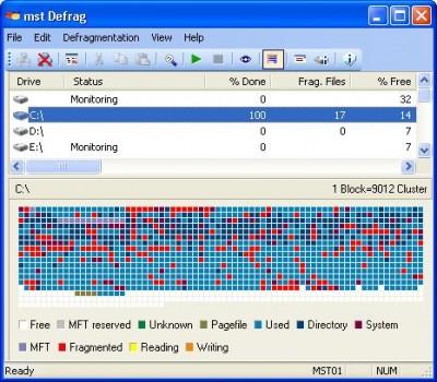 mst Defrag Home Edition 2.0.2.4364 screenshot