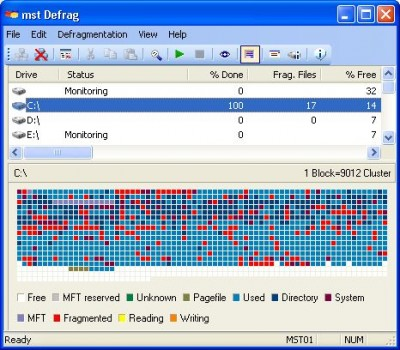 mst Defrag Workstation Edition 1.9.30.76 screenshot