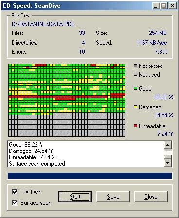 Nero CD-DVD Speed 4.7.7.5 screenshot