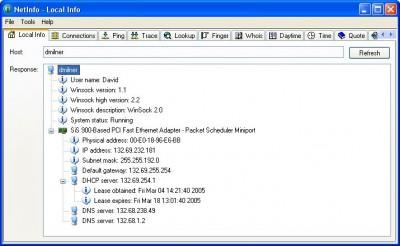 NetInfo 6.2 build 1105 screenshot