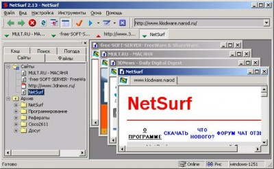 NetSurf 3.077 screenshot