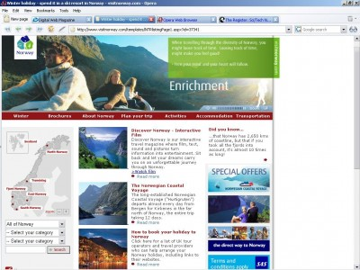 Opera International 9.25 screenshot