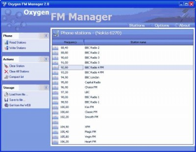 Oxygen FM Manager 2.0 screenshot