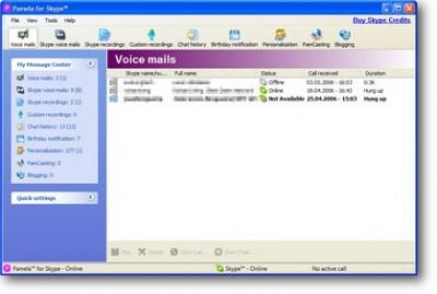 Pamela for Skype 3.5 screenshot