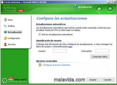 Panda Antivirus+Firewall 2008 screenshot
