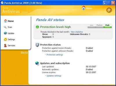 Panda Internet Security 2008 12.01 screenshot