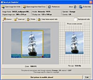Pic2mobile 3.1 screenshot