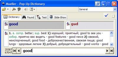 Pop-Up Dictionary 4.8 screenshot