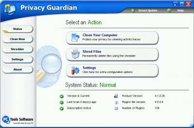 Privacy Guardian 4.5 screenshot