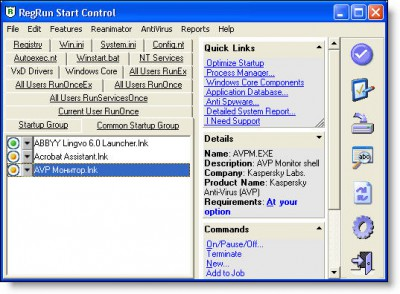 RegRun Security Suite Gold 6.7 screenshot