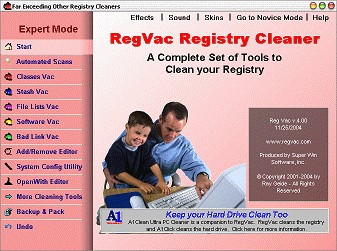 RegVac Registry Cleaner 5.02.14 screenshot