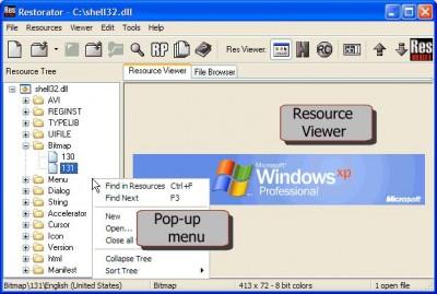 Restorator 2007 Build 1729 / Update 2 build 1747 screenshot