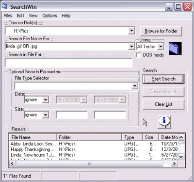 SearchWin 1.1.8 screenshot