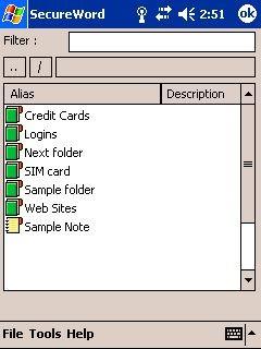 SecureWord.Mobile 1.5 screenshot
