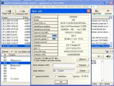 Siemens Mobile Control (SiMoCo) 2.2.8 screenshot