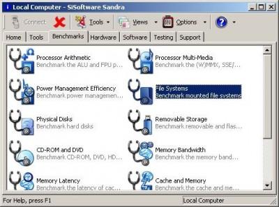 SiSoftware Sandra XII (2008.2.12.34) screenshot