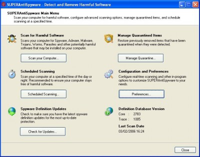 SuperAntiSpyware Free Edition 3.9.1008 screenshot