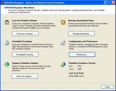 SuperAntiSpyware Free Edition 3.9.1008 screenshot