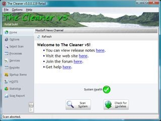 The Cleaner 5.0.0.132 screenshot